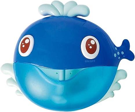 ZUEN Bebé Bubble Machine, Divertido Whale Music Ventilador De La Burbuja Máquina Baño Al Aire Libre Juguetes para El Baño De Juguete Regalos para Niños Y Niñas: Amazon.es: Deportes y aire libre