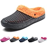 Eagsouni Womens Mens Indoor Slip on House Slippers Sticking Lining Warm Fleece Slip-Resistant Clogs