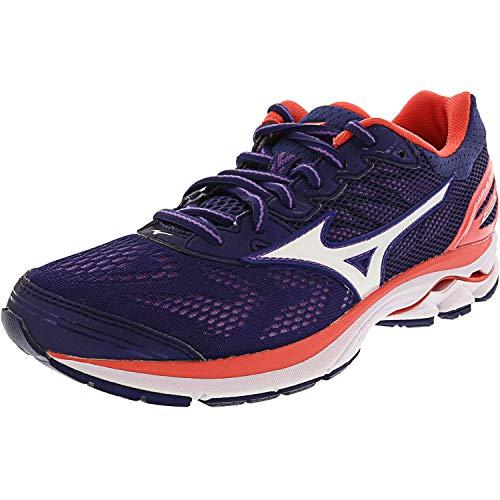 Mizuno Women's Wave Rider 21 Running Shoe Athletic Shoe, patriot blue/white, 6 B US