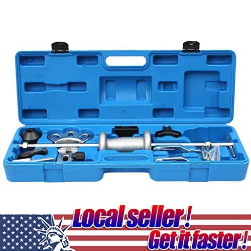 (Hohaski 16 pcs Slide Hammer and Puller Set, Axle Slide Hammer Dent Panel Bearing Puller Set Garage Tool, Front Wheel Hub Bearing Remover & Rear Wheel Axle Shaft Puller Tool Kit (Blue))