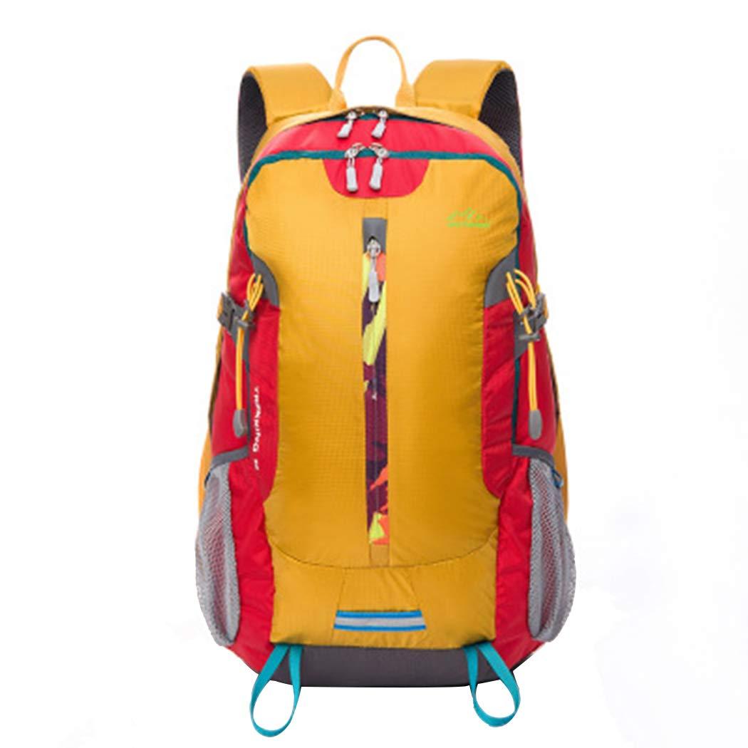 男女兼用バックパック 防水 旅行バッグ メンズ 大容量 アウトドア 登山バッグ レジャー スポーツ バックパック B07G83YJXQ イエロー One Size