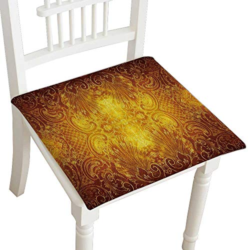 Indoor/Outdoor All Weather Chair Pads Antique Metal Design as Burnished Seat Cushions Garden Patio Home Chair Cushions 28