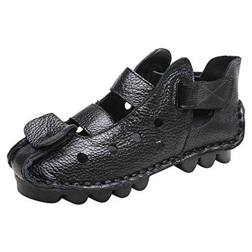 DULEE - Sandalias deportivas de Piel para mujer negro