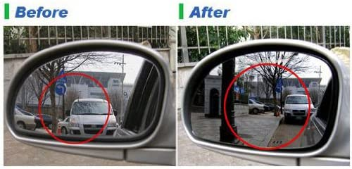 SAFE Curved Blindspot Side Mirror Glass 2-pc Set For 2007 2008 2009 2010 2011 2012 Hyundai Santa Fe