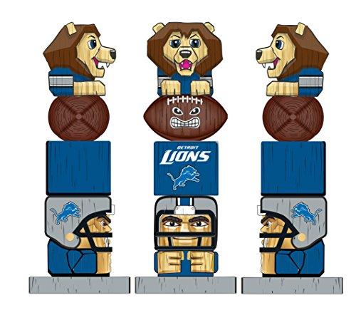 Team Sports America NFL Detroit Lions Tiki Totem