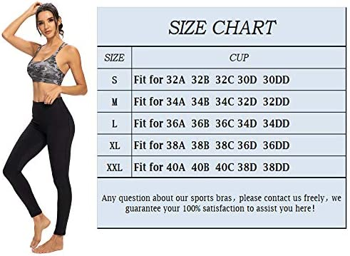 IOJBKI Sports Bras for Women Padded Strappy Sports Bra Medium Support Workout Running Yoga Bra