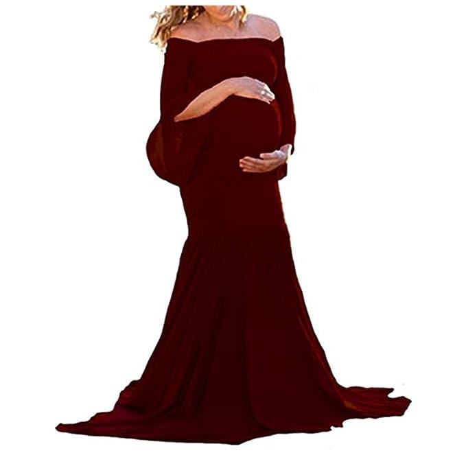 Mujer Embarazadas Larga Vestido de maternidad Fotografía de maternidad Apoyos De Fotografía Vestidos: Amazon.es: Ropa y accesorios