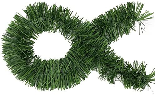 Amazon.com: 50 Foot Garland for Christmas Decorations - Non-Lit Soft Green  Holiday Decor for Outdoor or Indoor Use - Premium Quality Home Garden  Artificial Greenery, or Wedding Party Decorations (Pack of 1):