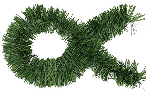 50 Foot Garland for Christmas Decorations – Non-Lit Soft Green Holiday Decor for Outdoor or Indoor Use – Premium Quality…