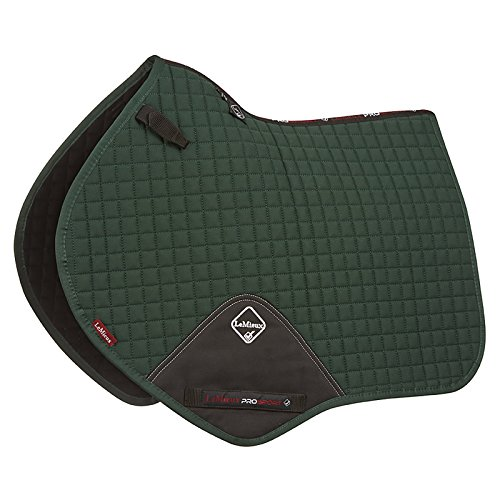 Le Mieux ProSport Close Contact/Jumping Cotton Square Saddle Pad (Green, Large)