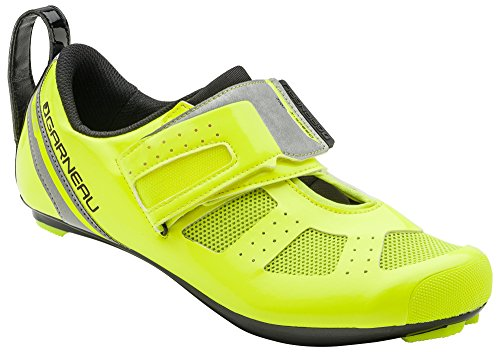 Louis Garneau - Tri X-Speed 3 Triathlon Bike Shoes, Bright Yellow, US (11.5), EU (Unisex Racing Shoes)