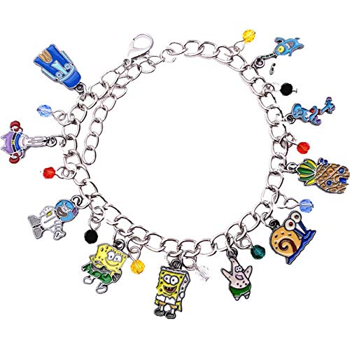 Spongebob Squarepants Halloween Special (Athena Brand Spongebob Squarepants TV Series Kids Theme Comics Movie Cartoon Logo Charm Jewelry Bracelet w/Gift)