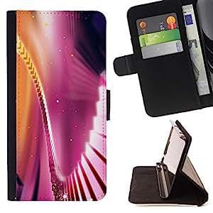 Momo Phone Case / Flip Funda de Cuero Case Cover - Ciel Violet or jaune - Samsung Galaxy A5 ( A5000 ) 2014 Version