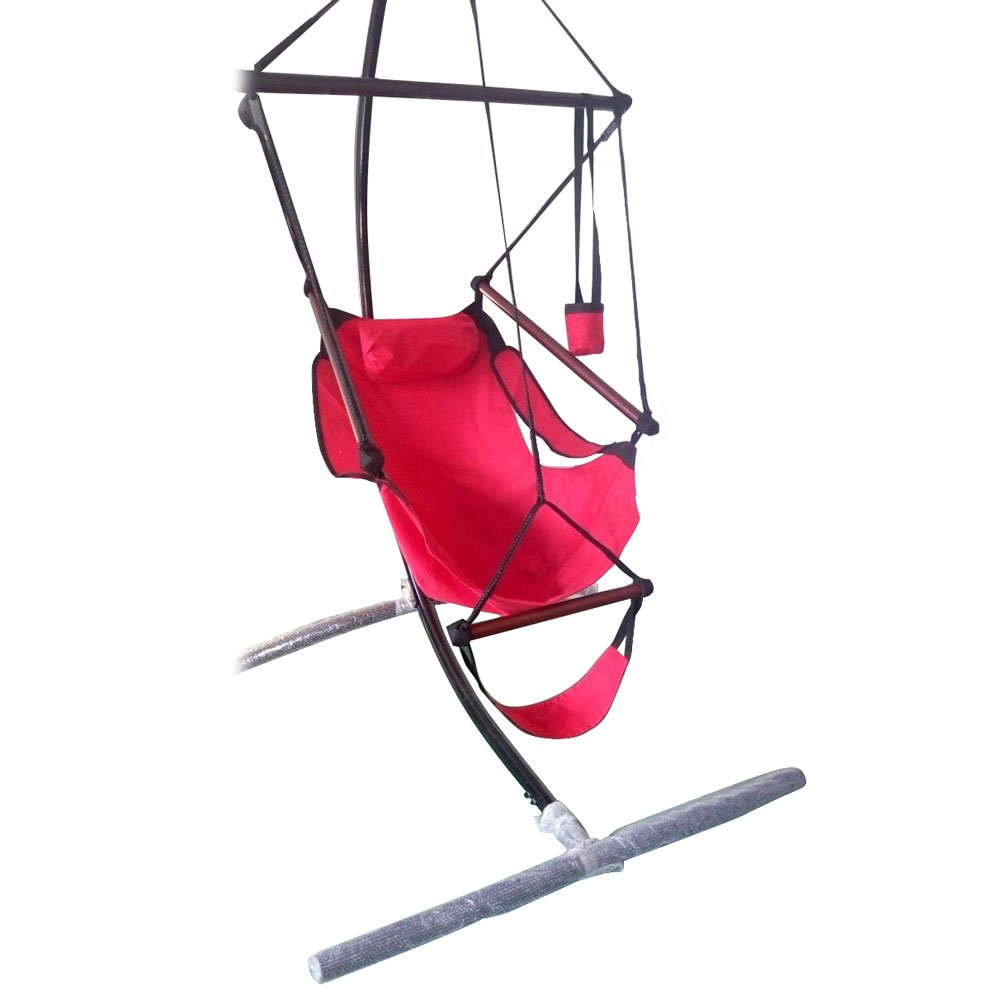 MAMOIU Well-Equipped S-Shaped Hook High Strength Assembled Hanging Seat Cacolet (Red)