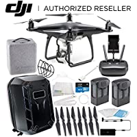 DJI Phantom 4 PRO Obsidian Edition Drone Quadcopter (Black) Essential Hardshell Backpack Bundle