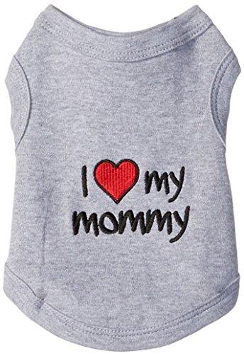 Parisian Pet I Love Mommy Dog T-Shirt, X-Small