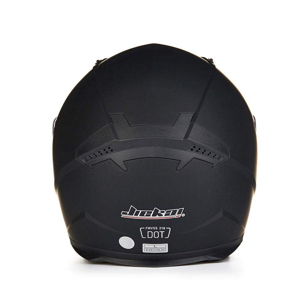 Double Lens Helm ZHIXX MALL Cool Motorradhelm,Klapphelm Integralhelm ,Sonnenschutz Roller Sturz Helm Helles Schwarz, XXL