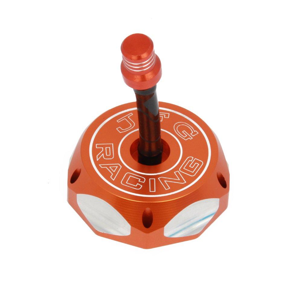Orange Billet Gas Fuel Tank Cap Cover EXC RXC MXC SX PRO LC4 EGS 50 85 105 125 200 250 300 350 360 380 400 440 450 520 525 94-10