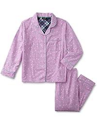 Women's Plus Size 2-Piece Flannel Pajamas Shirt & Pant Set