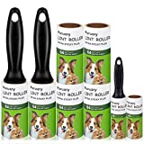Lint Roller Pet Hair Remover Extra Sticky Rollers with Travel Mini Tape Roller for Clothes, Car Seat, Sofa -8 Count