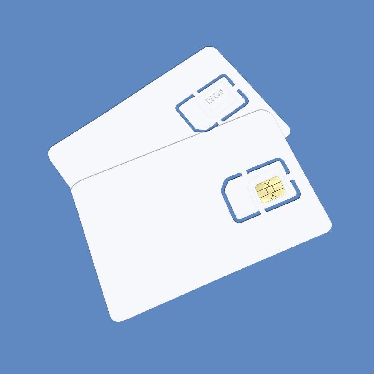Amazon.com: Tarjeta SIM en blanco USIM 4G LTE WCDMA GSM Nano ...