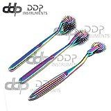 DDP Set of 3 Wartenberg Neurological Pin Wheel Pinwheel 1, 3, 5 Head Diagnostic Multi Color Rainbow