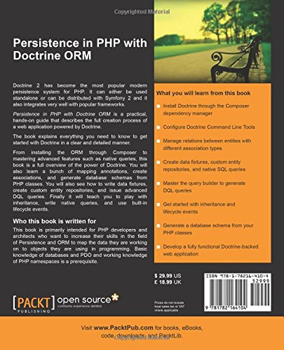 Persistence in PHP with Doctrine ORM: Kévin Dunglas: 9781782164104