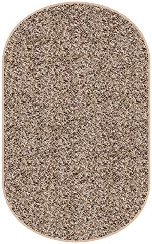 Koeckritz Oval 9 x12 Indoor Frieze Shag Area Rug – Bramble II- Plush Textured Carpet with Premium Bound Polyester Edges.