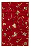 Jaipur Living Alsace Hand-Tufted Floral & Leaves Red Area Rug (2' X 3')