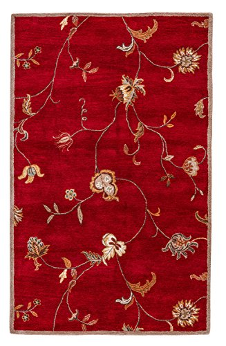 Jaipur Living Alsace Hand-Tufted Floral & Leaves Red Area Rug (8' X 10')