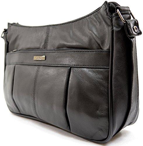 Damenschultertasche/-handtasche aus besonders weichem Nappaleder
