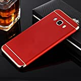 Mobiclonics 3in1 Hybrid Hard Back Cover Electroplating Case for Samsung Galaxy On8-Red