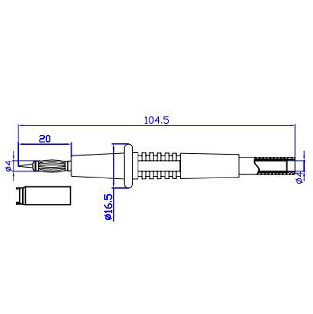 Aidetek multimetro con punta puntali TL809/per multimetro Fluke tester T20159 1
