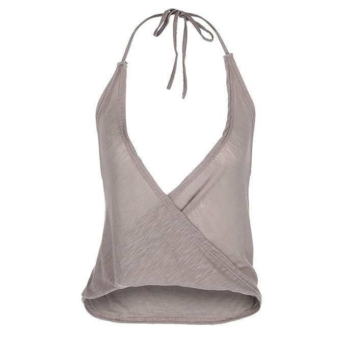 Happy-day Blusas Para Mujer, Camiseta Blusa de Mujer Casual Sin Mangas Chaleco de Camuflaje de Color: Amazon.es: Ropa y accesorios