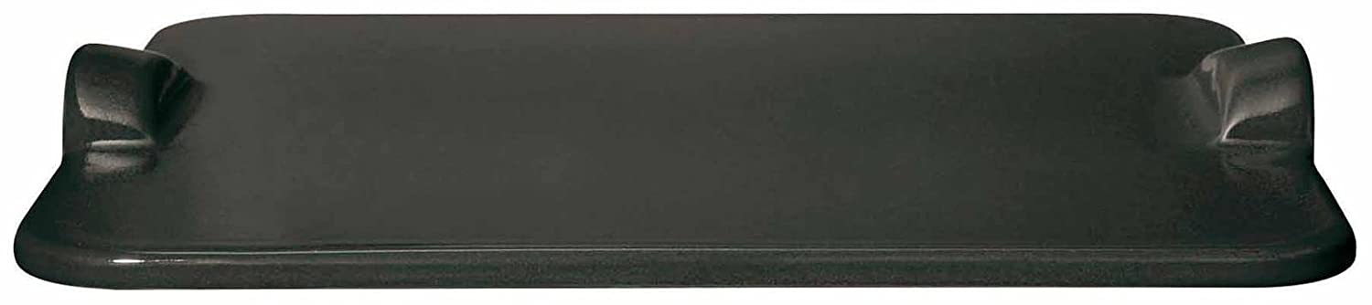 Emile Henry Flame BBQ Rectangular Grilling Baking Stone, 18 x 14, Charcoal 18 x 14 797518