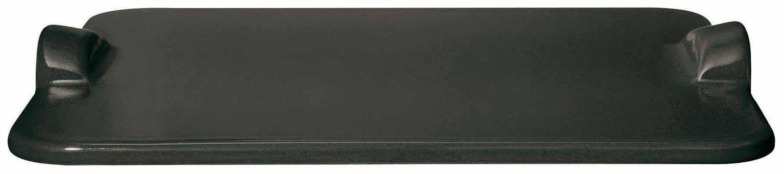 Emile Henry Made In France Flame BBQ Rectangular Grilling Baking Stone, 18 x 14'', Charcoal by Emile Henry