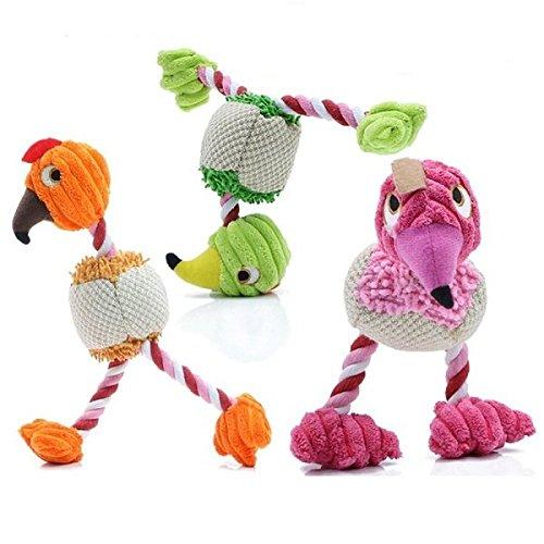 Dog Plush Toys - Bird Sound Dog Toy - HP-PT6 Pet Dog Plush Toy Sound Bird Squeaky Chew Puppy Play Dog Cat Toy - Rose (Bird Toys For Dogs)