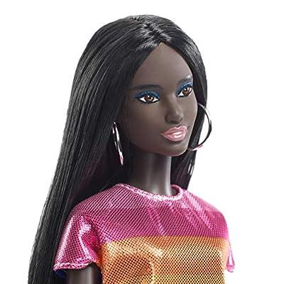 Barbie Fashionistas Rainbow Sparkle Doll: Toys & Games