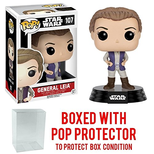Funko Pop! Star Wars: The Force Awakens - General Leia #107 Vinyl Figure (Bundled with Pop BOX PROTECTOR CASE)