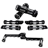 Combo Motorcycle 1'' Hand Grips + Front & Rear Foot Pegs + Toe Heel Shift Lever Shifter Pegs For Harley Touring Softail