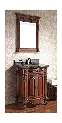 (24 in. Vanity - Granite Top/Undermount Sink, Mirror)