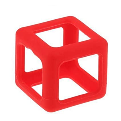 Nuofeng Fidget Toy Stress And Anxiety Relief Cube Prism Protective Case Cover Box Red 1