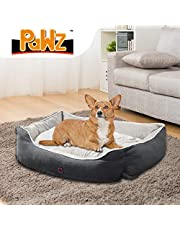 PaWz Pet Bed Mattress Dog Cat Pad Mat Puppy Cushion Soft Warm Washable L Grey Grey L