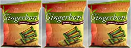 Gingerbon 3 Pack Ginger Sweets Chews Candy Permen Jahe Original 125g with FREE Candy Sample