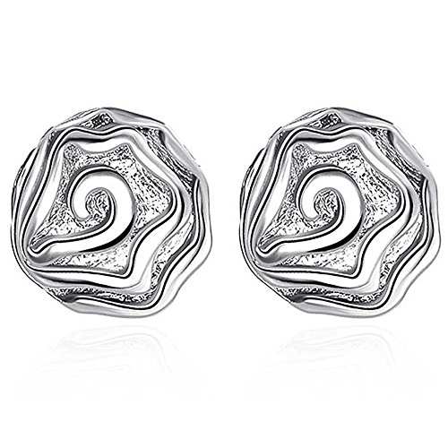 [SDLM Fashion Jewelry Casual Style Silver Plated Rose Stud Earrings for Womens] (Rosebud Angel Costumes)