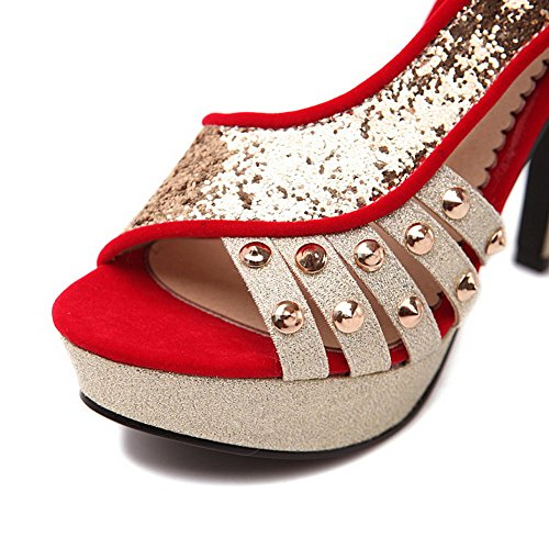 Adee Womens Peep-Toe Composite Western Soft Material Sandals Red nFvoj