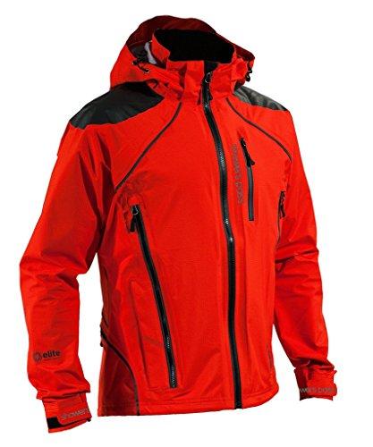 (Showers Pass Men's Lightweight Waterproof refuge Jacket (Cayenne Red - Large))