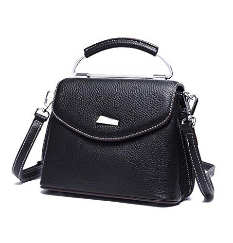 Genuina Hecho Capacidad a 1 y Gran bolsos 1 Mano de viaje RFID Sucastle Ideal Mujer Genuino hombro Cuero trabajo Bloqueo para 0PvF0qwf4