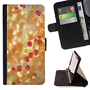 DEVIL CASE - FOR HTC DESIRE 816 - Bling Glitter Light Precious Stones Jewelry - Style PU Leather Case Wallet Flip Stand Flap Closure Cover