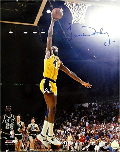 Autographed Worthy Photograph - 16x20 Yellow Dunk - Autographed NBA Photos